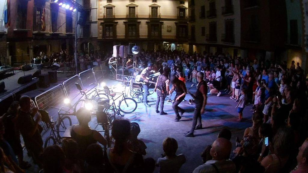 LaDinamo en la Plaza Mayor. NOCTE 2017. Foto de María Barrós.